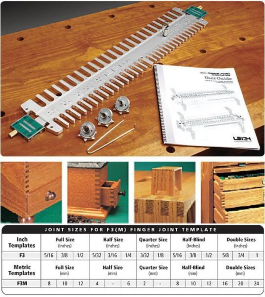 leigh isoloc hybrid dovetail templates - leigh f3 finger joint template for leigh d series jigs