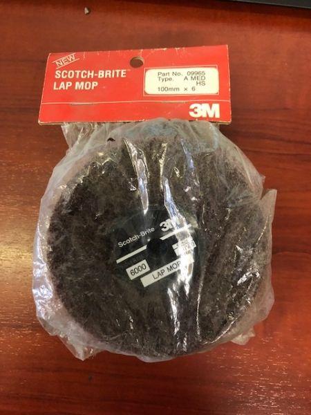 """Scotchbrite 6/""""x4 lap mop Fine A Grade"""